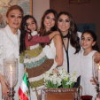 Empress Farah and her four granddaughters celebrate the Persian New Year
