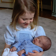 Princess Estelle and newborn Prince Oscar