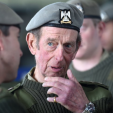 The Duke of Kent during his visit to the Royal Scots Dragoon Guards in Fife