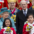 The Queen and the Duke of Edinburgh at this year's Royal Maundy Service