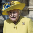 Queen Elizabeth attends Easter Sunday service at St George's Chapel, Windsor