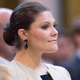 Crown Princess Victoria attends a lecture