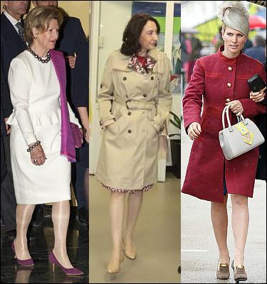 (L-R) Queen Sonja, Princess Rym Ali and Zara Phillips.