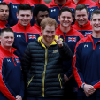 Prince Harry poses for the official Invictus Games Team UK team