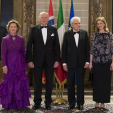The King and Queen of Norway with the President of Italy