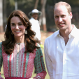 The Duke and Duchess of Cambridge on their first day in India