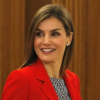 Queen Letizia ahead of an audience at Zarzuela