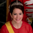 Crown Princess Mary during the gala dinner for the Mexican President