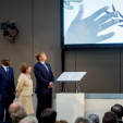 King Willem-Alexander during the opening of the new International Criminal Court