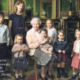 The Queen with her youngest grandchildren and great-grandchildren