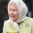 Queen Elizabeth during the beacon lighting ceremony