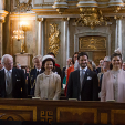 The Swedish royals attend a Te Deum for Prince Alexander
