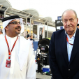 Prince Salman and King Juan Carlos at the Bahrain Formula 1 Grand Prix