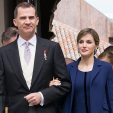 King Felipe and Queen Letizia at the 2015 Cervantes Prize ceremony