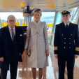 Queen Mathilde at the baptism of the new vessel