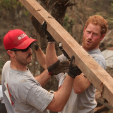 Prince Harry in Nepal helping to rebuild a school