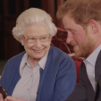 Queen Elizabeth and Prince Harry in a video to promote the Invictus Games