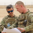 Crown Prince Frederik in Iraq with the Danish troops