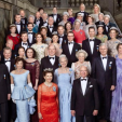 A photo of the royal guests at King Carl Gustaf of Sweden's 70th birthday