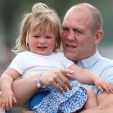 Mia and Mike Tindall at the Badminton Horse Trials