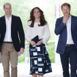 The Cambridges and Prince Harry at the launch of Heads Together