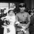 Prince Wilhelm of Prussia and Dorothea von Salviati on their wedding day