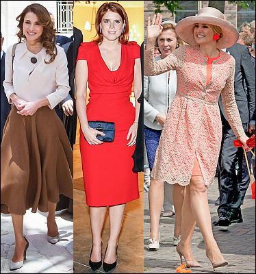 (L-R) Queen Rania,  Princess Eugenie and Queen Maxima.