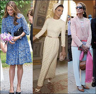 (L-R) Princess Madeleine, Sheikha Mozah and Infanta Elena.