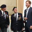 Prince Harry with WWII veterans