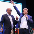 Prince Seeiso and Prince Harry at the Sentebale concert