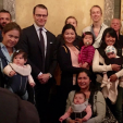 Prince Daniel with 'Swedish with Baby' group members