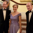 The Earl and Countess of Wessex with the Duke of Edinburgh