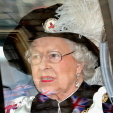 Queen Elizabeth at the Order of the Garter ceremony