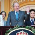 King Juan Carlos and two grandchildren, Victoria and Felipe de Marichalar