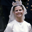 Queen Silvia on her wedding day