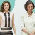 Queen Letizia and Queen Sofia