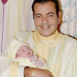 Prince Moulay Rachid and his newborn son Prince Moulay Ahmed