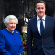 Queen Elizabeth and Prime Minister David Cameron
