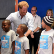 Prince Harry and some of the choir members