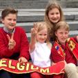 Prince Emmanuel, Princess Eleonore, Princess Elisabeth and Prince Gabriel