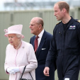 The Duke of Cambridge with Queen Elizabeth and Prince Philip