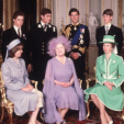The Queen Mother and her six grandchildren