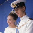 Princess Claude and Prince Amedeo on their wedding day