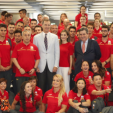 King Felipe and Queen Letizia with Spain's Rio athletes