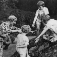 Princess Ingeborg and her Belgian grandchildren