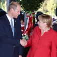 Prince William and Chancellor Merkel