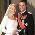 Crown Prince Haakon and Crown Princess Mette-Marit on their wedding day