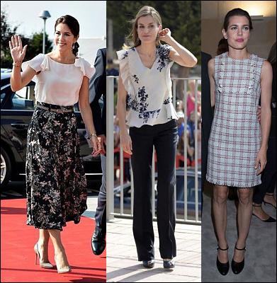 (L-R) Crown Princess Mary, Queen Letizia and Charlotte Casiraghi.
