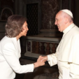 Queen Sofia and Pope Francis