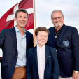 Crown Prince Frederik, Prince Christian and Prince Henrik
